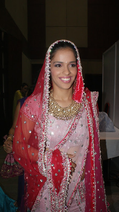 exclusve sania nehwal in bridal rwalk latest photos