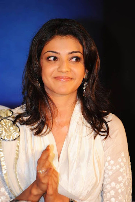 kajal agarwal bouncy looks robo music launch actress pics
