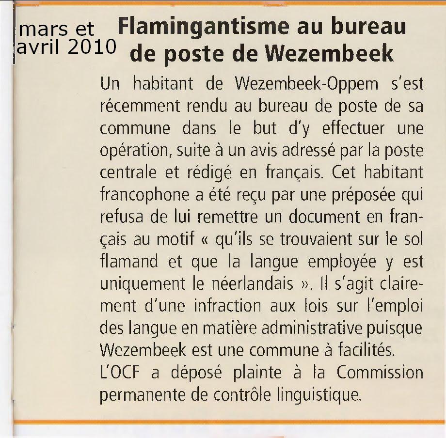 Bhv le reflet d 39 une histoire belge flamingantisme au bureau de poste de wezembeek - Bureau de poste belgique ...