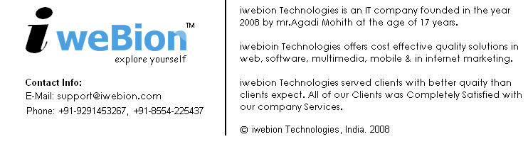 iwebion Technologies official Blog