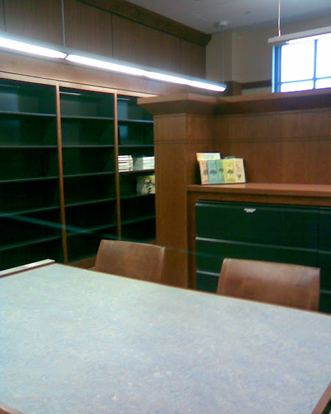 Empty shelves...
