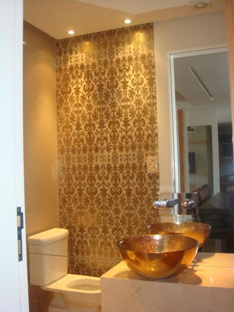 Lavabo com cuba dourada  Banheiros  Pinterest  Cuba -> Cuba Para Banheiro Dourada