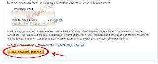 Halaman pendaftaran rekening PayPal - Image by MeNDHo.com