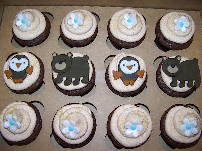 Plumeria Cake Studio Woodland Animal Baby Shower Cupcakes