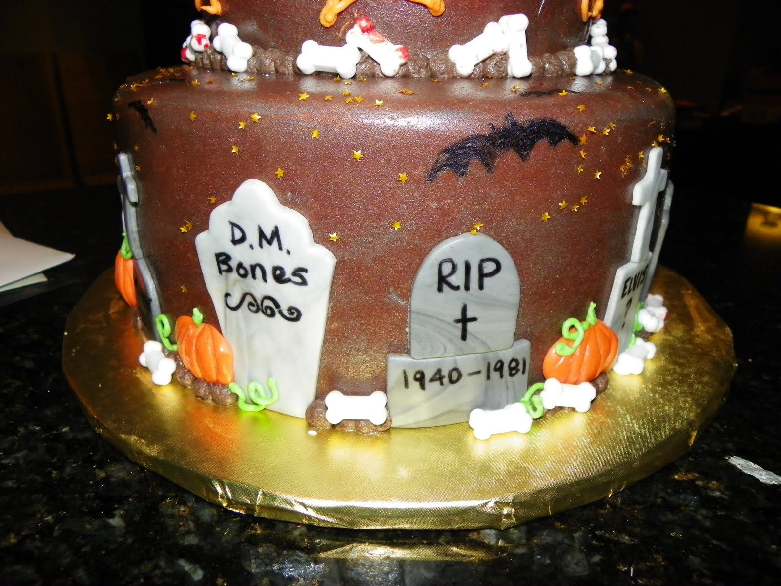 Plumeria Cake Studio Halloween 40th Birthday Cake