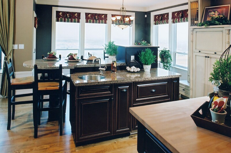 Blue And Brown Kitchens 2017 Grasscloth Wallpaper