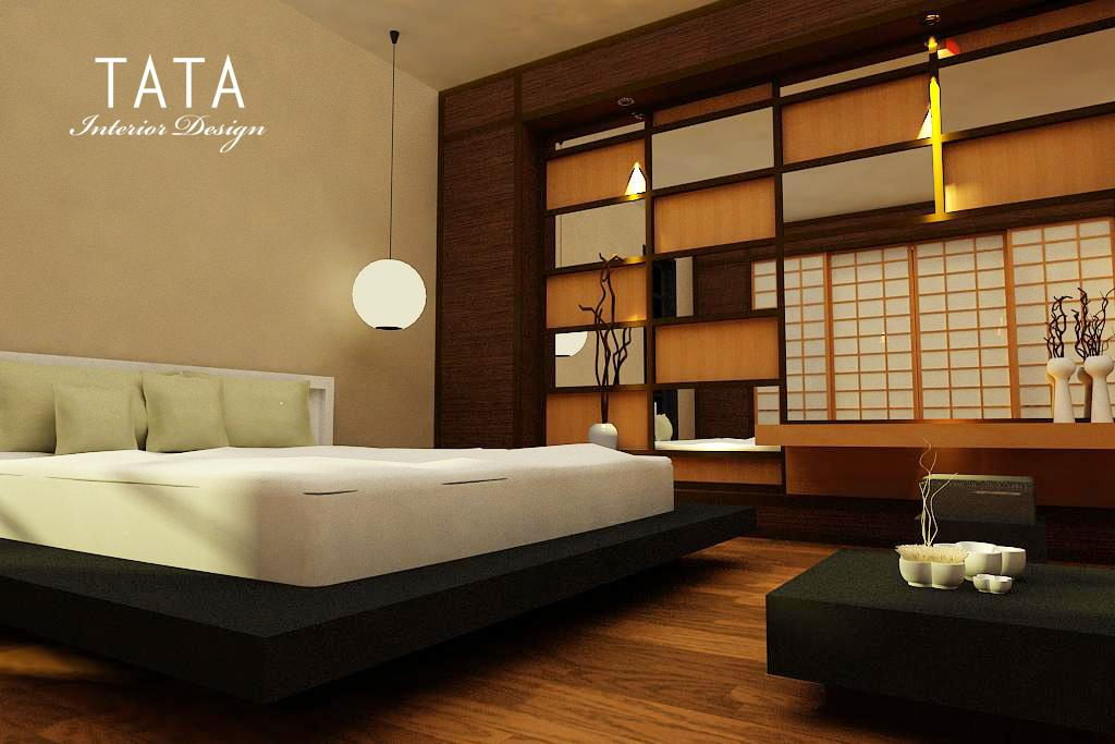 desain interior kamar tidur modern jepang tata