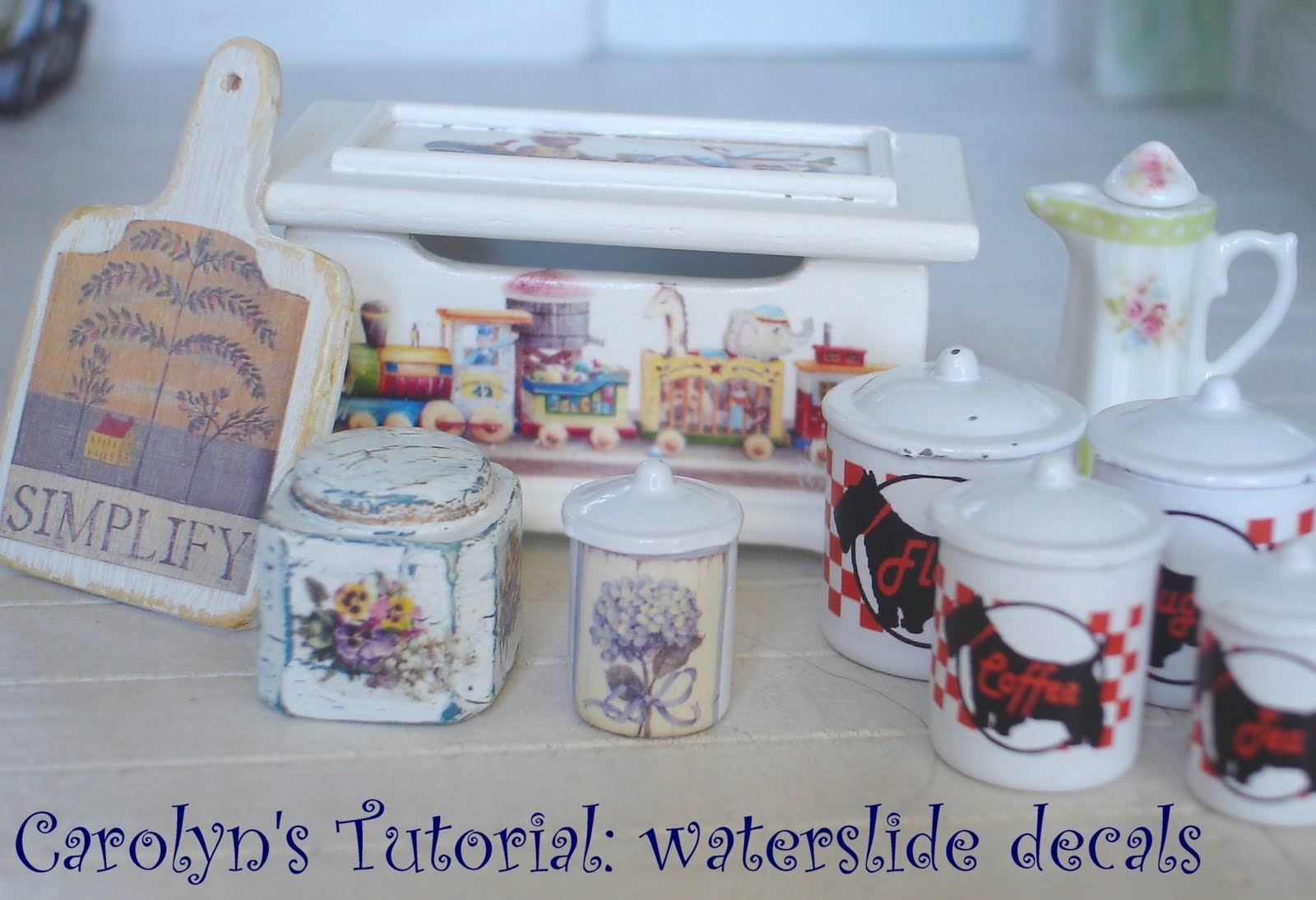 Carolyn 39 S Little Kitchen Tutorial Decorating Plates With Waterslide Decals