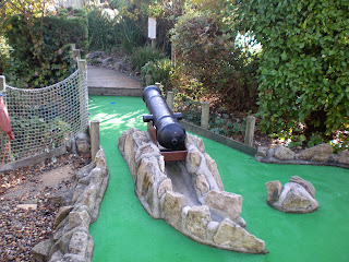 Pirate Adventure Mini Golf course at the Sea Life Centre in Lodmoor Country Park in Weymouth, Dorset