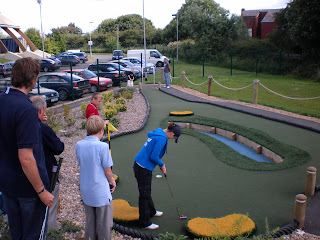 Emily Gottfried - Minigolf Play-off at the Miniature Open in Manchester in 2009