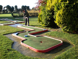 The old Crazy Golf course at Kingsway Golf Centre in Melbourn, Cambs
