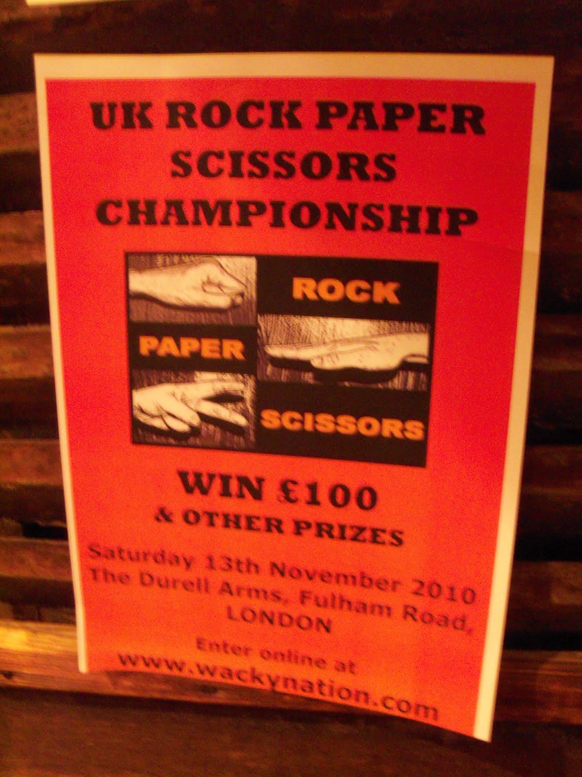 Rock Paper Scissors Tour Uk