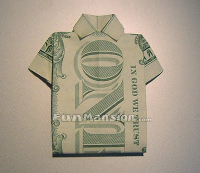 How To Make Origami T Shirt Money Origami