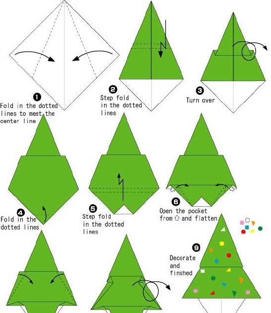 How To Make Origami How To Make Origami Christmas Tree
