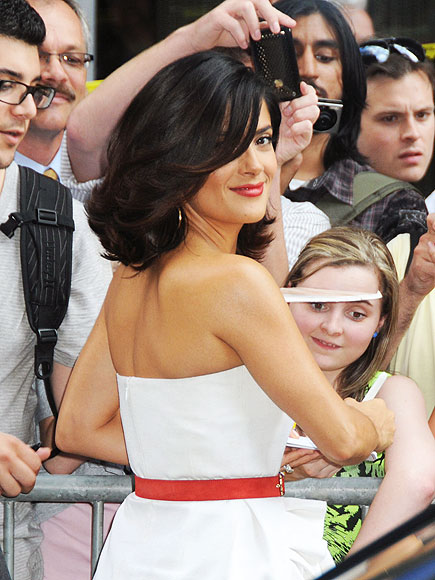 Salma Hayek Red-White Glamour