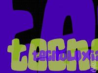 texto tecnoloxia con letras redondeadas