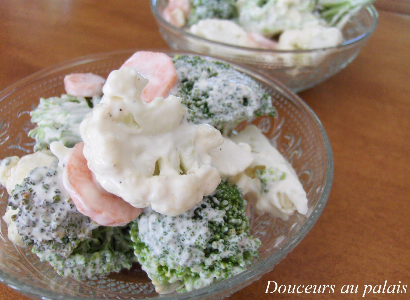 douceurs au palais salade d 39 t au brocoli chou fleur et. Black Bedroom Furniture Sets. Home Design Ideas