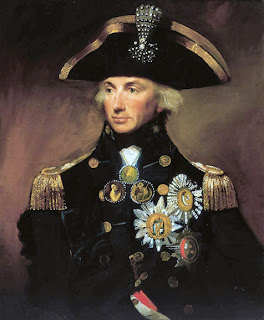 Horatio Nelson, 1st Viscount of Nelson as Vice Admiral, portait painted by Lemuel Francis Abbott.