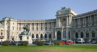 The Hofburg Palace in Vienna.