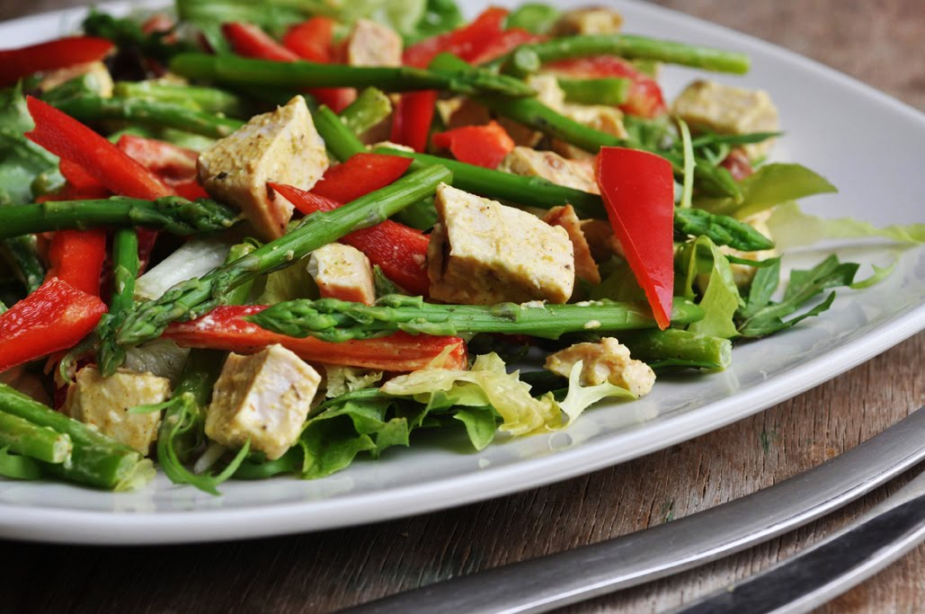 Anja's Food 4 Thought: Chicken Asparagus Salad