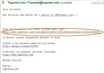 hackear hotmail por postales: