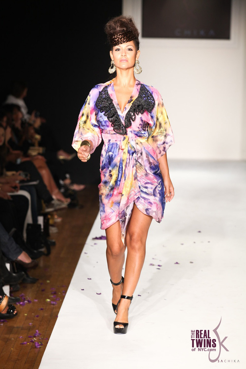 CONNIE CHRISTINA AKA MZ BERRY STRUTS THE SACHIKA RUNWAY SHOW NYFW