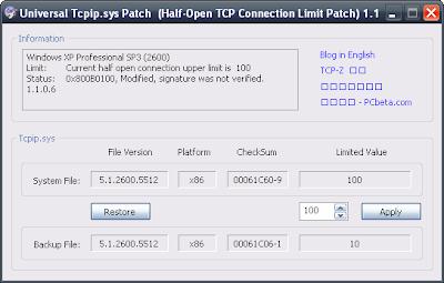 Известно, что количество TCP/IP подключений количество полуоткрытых TCP/IP