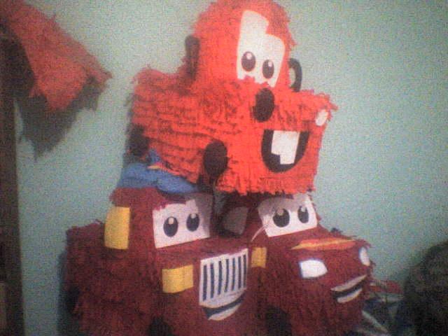 Piñata de Cars y Mate economica