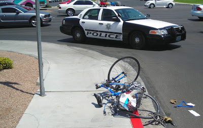 Image of bicycle accident