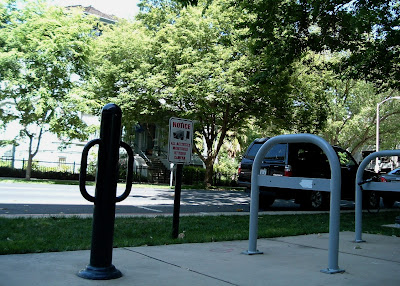 Image of bike rack near City Hall in Sacramento, CA