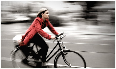 Image of helmetless bicyclist
