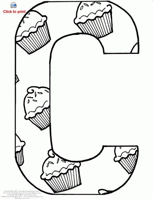 c coloring pages - photo #38