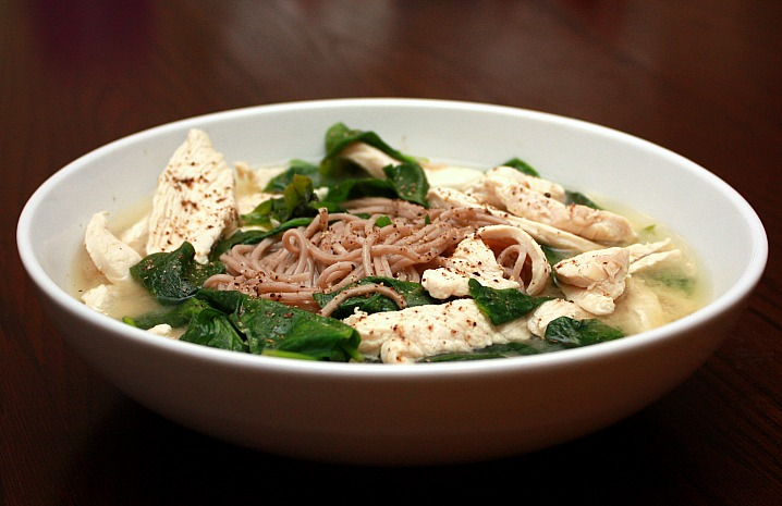 ... soba noodle soup with spinach and smoked trout soba noodle soup