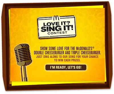 McDonald's 'Love It? Sing It!' Contest