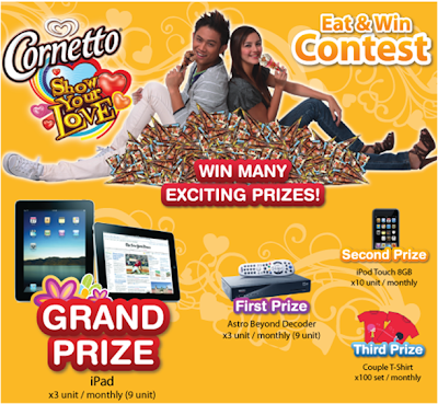Cornetto 'Eat and Win' Contest