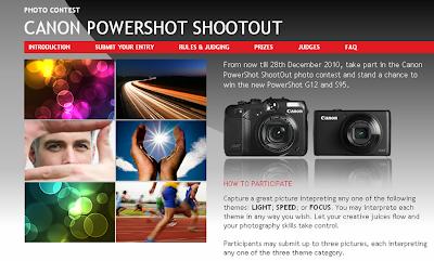 Canon 'PowerShot ShootOut' Contest