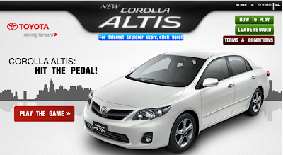 Toyota Corolla Altis 'Hit the Pedal' Contest