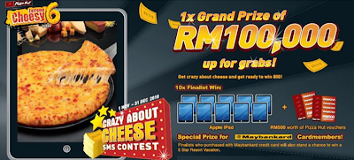 Pizza Hut 'Crazy About Cheese' SMS Contest