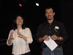 Teatro anita villalaz; María elena mena y Alex mariscal
