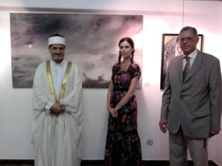 l'Ambasciatore d' Egitto in Italia Ashraf Rashed e il Prof. Taha Mattar Addetto Culturale, all'inau