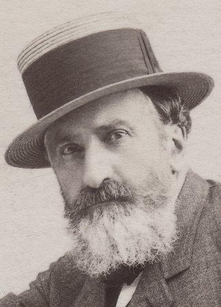 Gustave dans le jardin de la villa Moynier à Sécheron 1895
