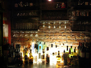 The back-lit bar at Fatty Crab