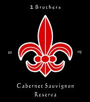 2 Brothers 2005 Cabernet Sauvignon wine label