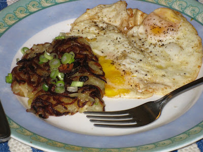 Rösti with fried eggs