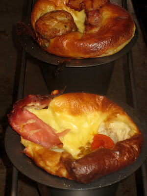 Breakfast popovers fresh from the oven