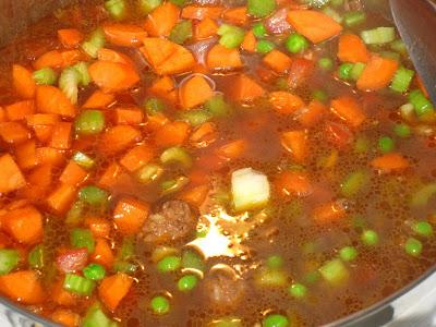 After 45 minutes, add vegitables
