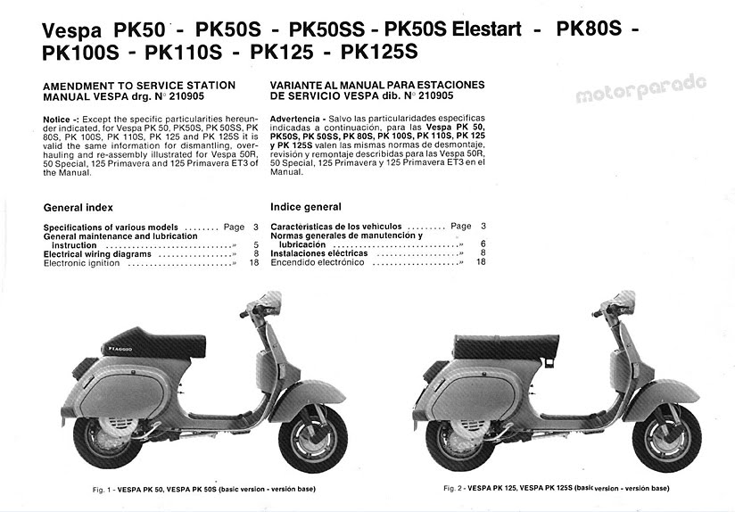 Vespa Et4 Wiring Diagram Pdf : Motorparade vespa pk manual