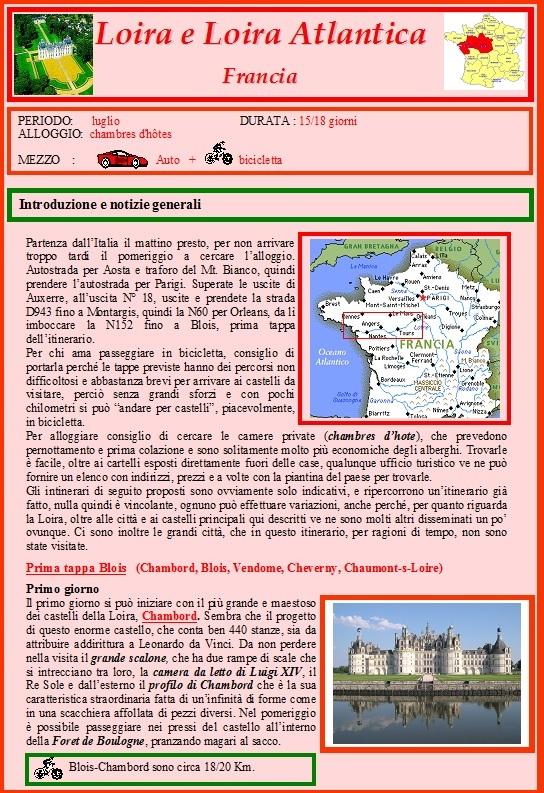 Castelli della loira e dordogna - francia - paesi baschi - spagna