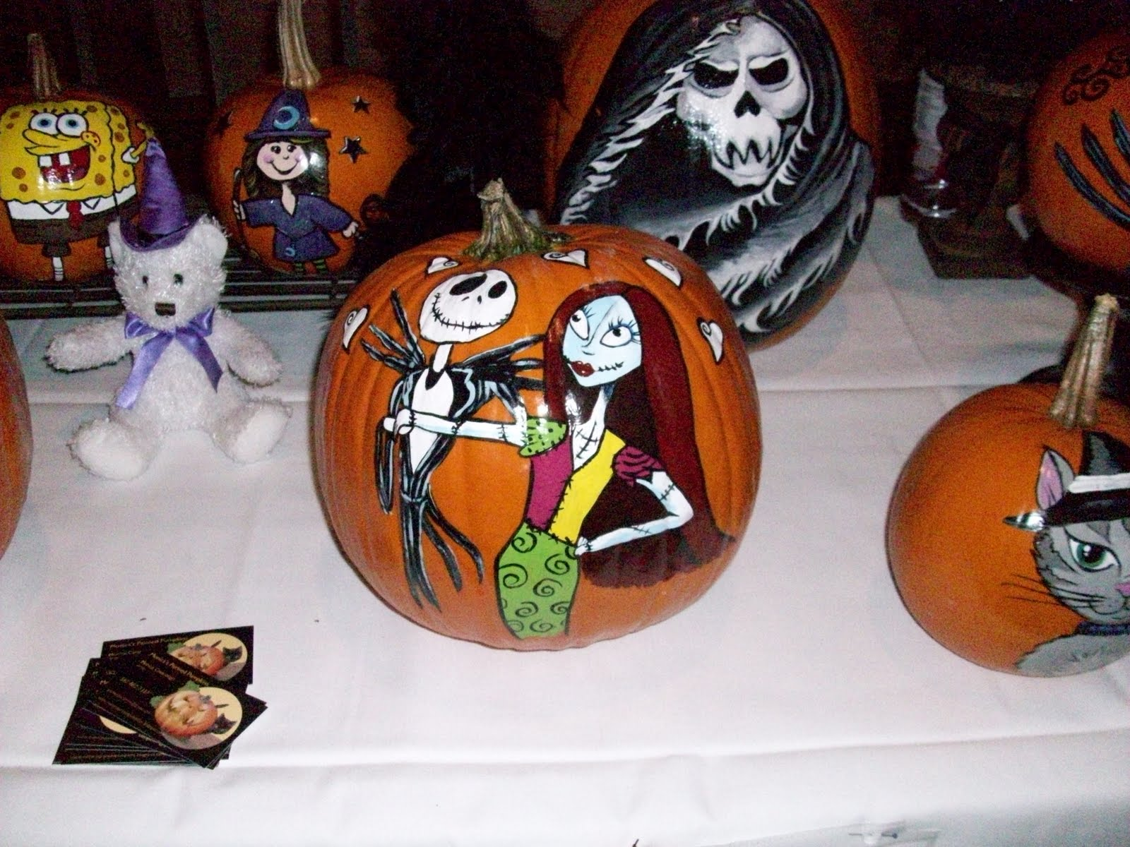 Monica\'s Painted Pumpkins: Another Jack & Sally