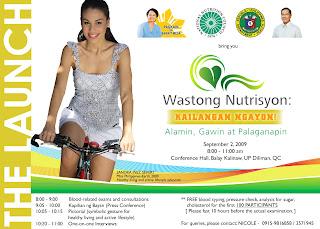 wastong nutrisyon Ang nutrisyon na kinakailangan ng mga sanggol ay nakasentro sa kanyang paglaki, pagpapalakas ng resistensya, pagpapatibay ng mga buto.